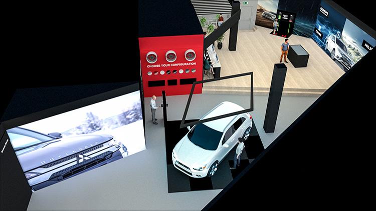 Här öppnar Mitsubishi konceptbutik