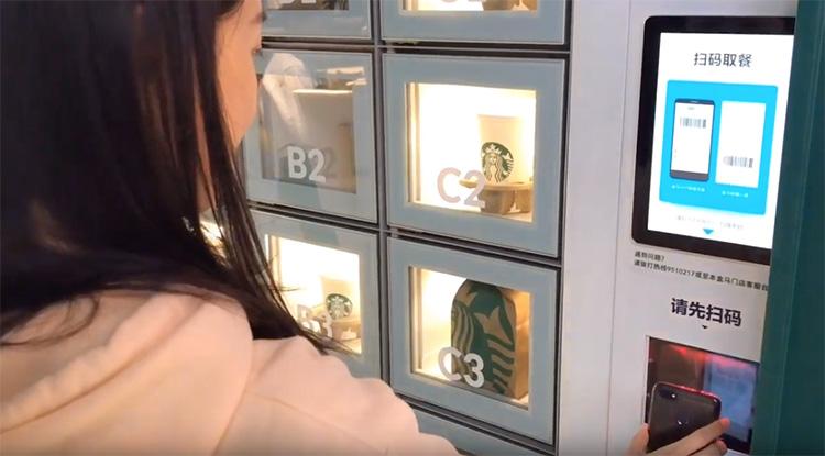 Starbucks öppnar kiosk i butiken
