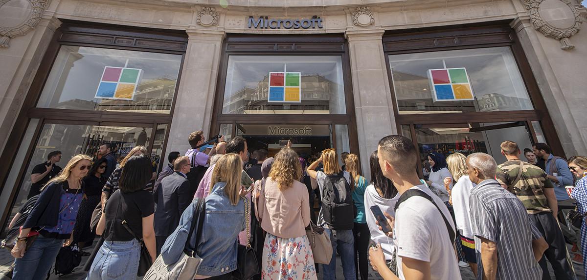 Se Microsofts nyöppnade flaggskepp