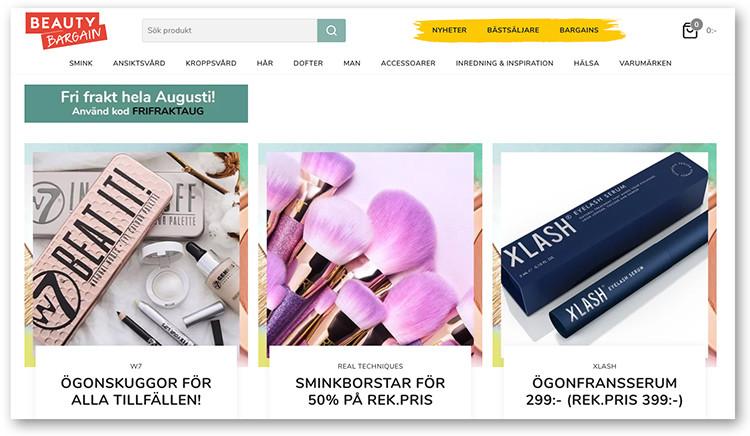 Premiär för Beauty Bargains e-handel