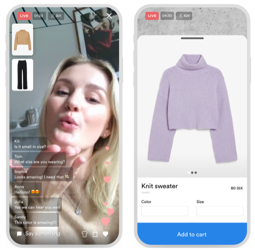 Live Video Shopping hos NA-KD och Monki