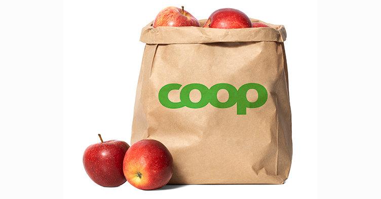 Coop ersätter tunn plast med papper