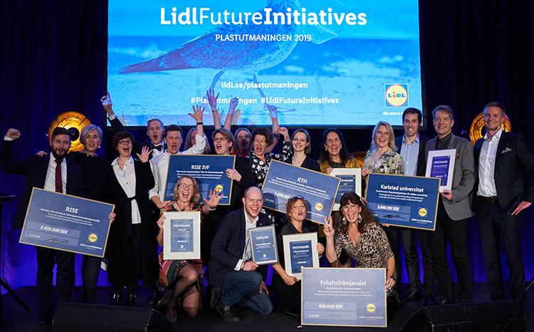 Fem vinnare av Lidls hållbarhetspris