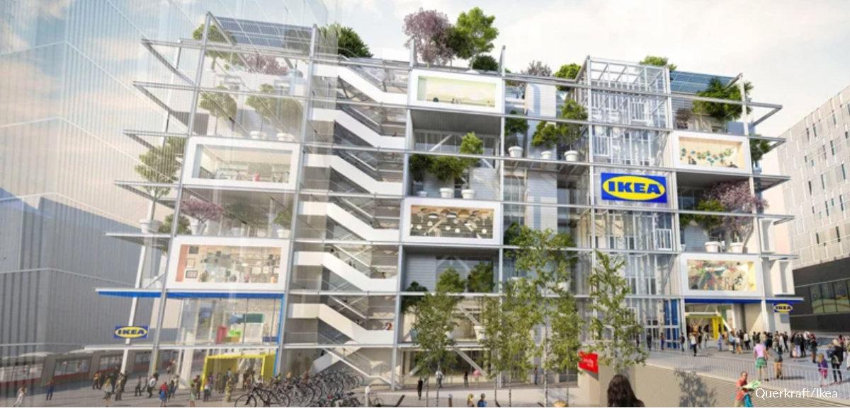 Ikea bryter grön mark med ny citybutik