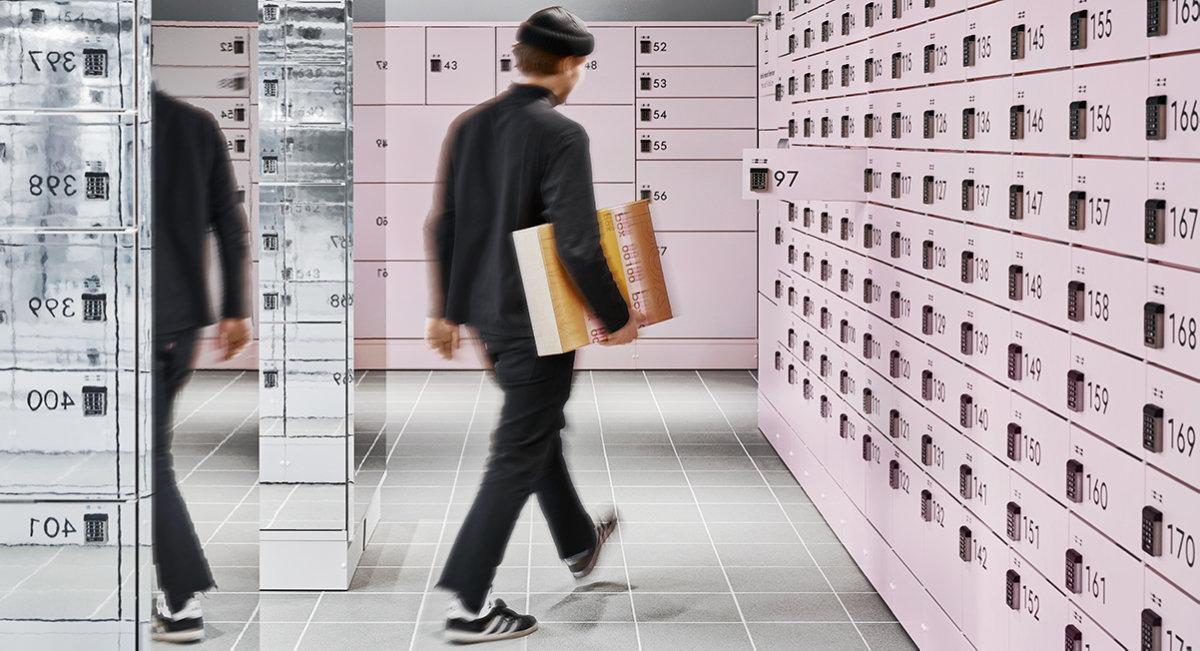 Stilren självbetjäning hos posten
