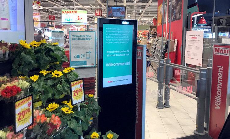 Digital kundräknare ska minska butiksträngsel