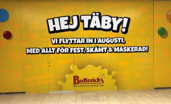 Butterick's öppnar i Täby Centrum