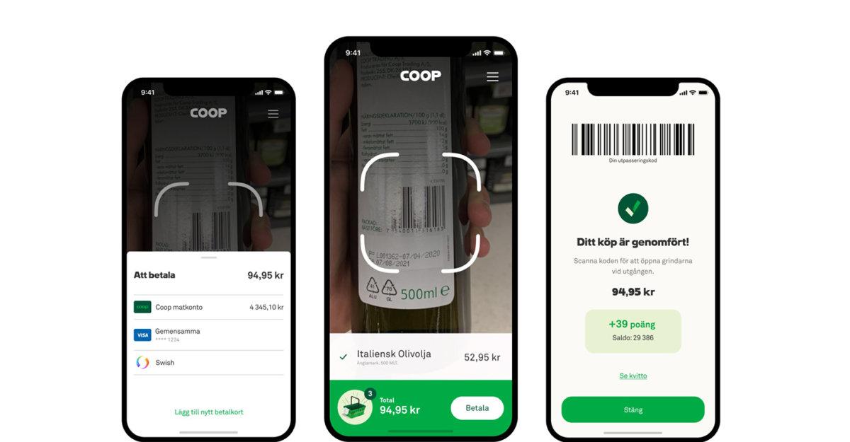 Självskanning med mobil hos Coop