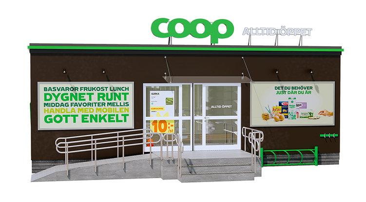 Coop öppnar obemannade butiker
