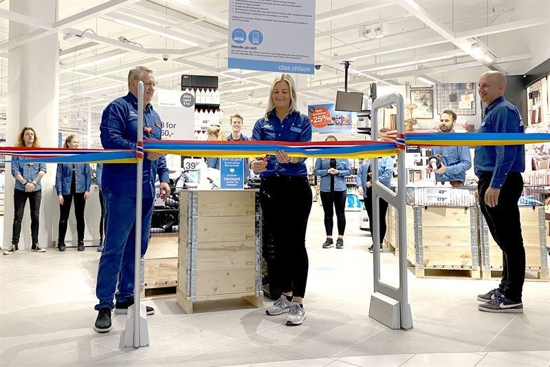 Clas Ohlson öppnade ny butik i Trondheim