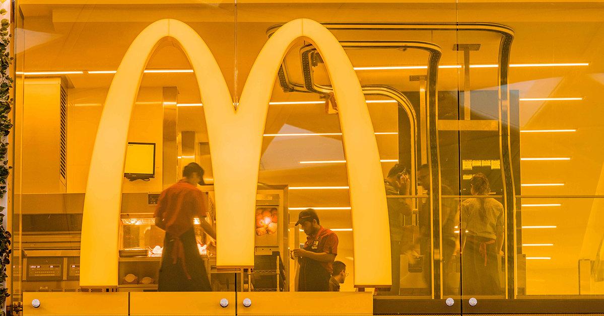 Tystnad centralt i McDonald's nya design