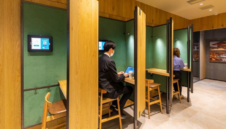 Avskild coworking hos Starbucks