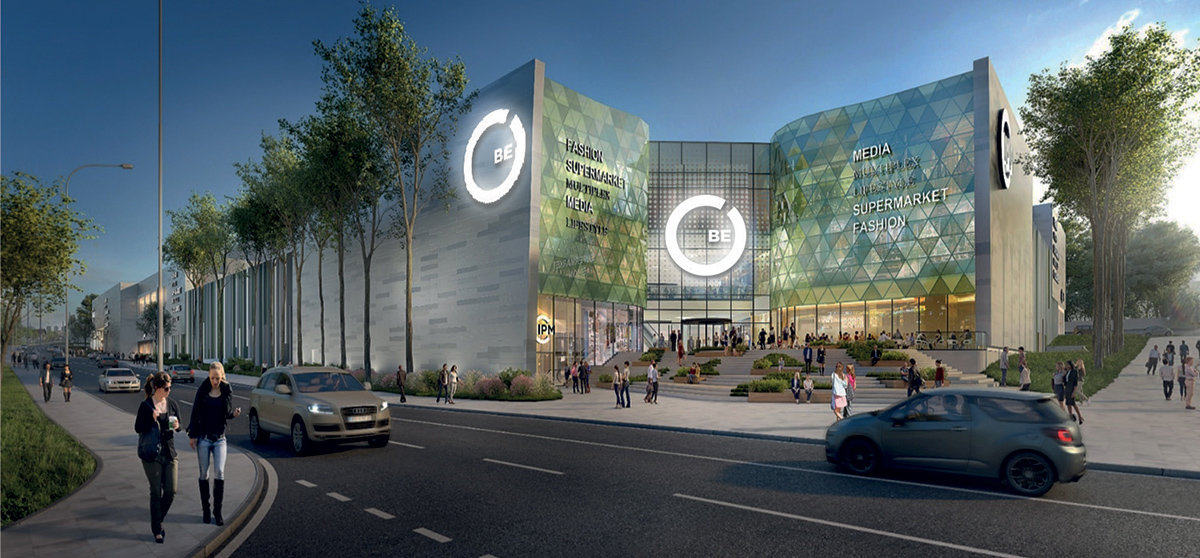 Öppna ytor och dagsljus i nytt köpcentrum