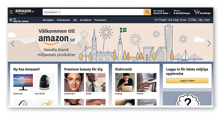 Amazon har nu lanserats i Sverige