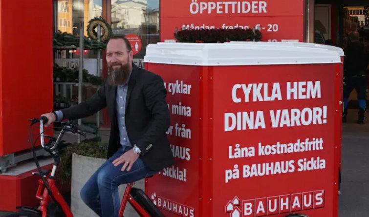 Bauhaus lånar ut eldrivna transportcyklar