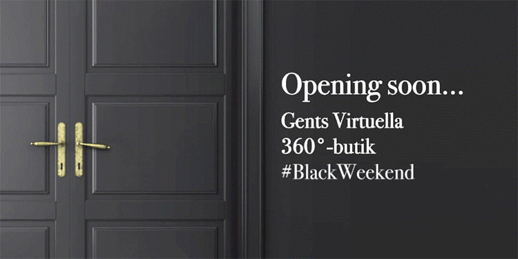 Gents öppnar virtuell Black Weekend-butik