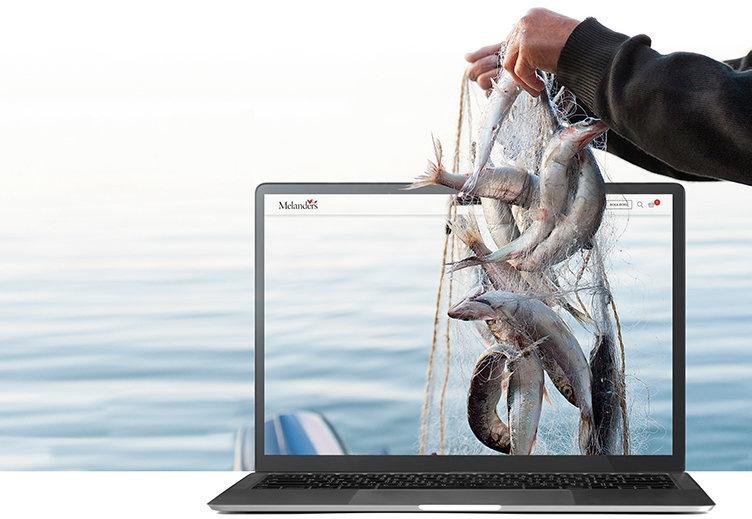 Fisk och krogmat i Melanders nätsatsning