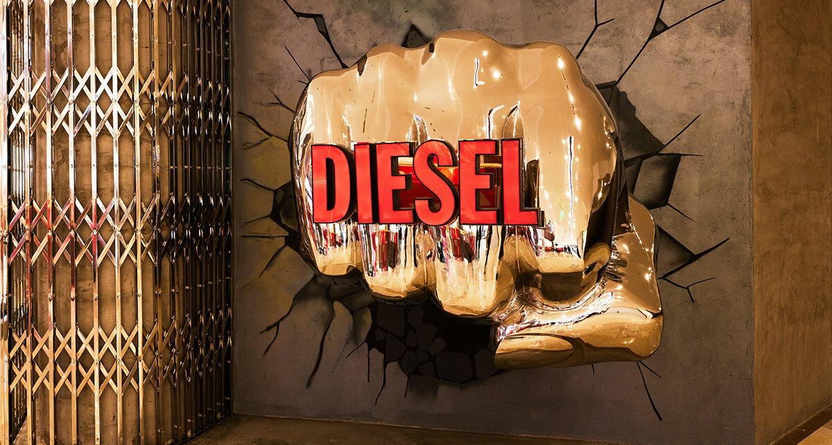 Diesel Hub mixar shopping och umgänge