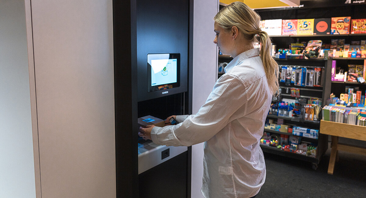 Snabbare utlämning med robot i butik