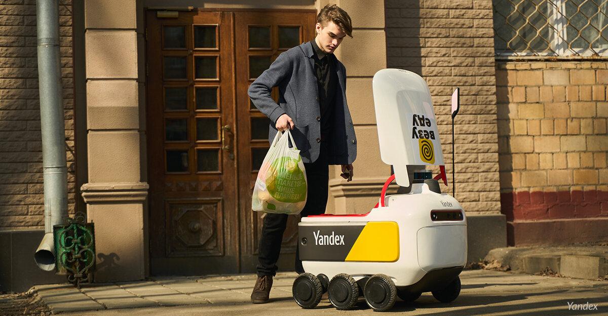 Hyperlokal leverans med robotar