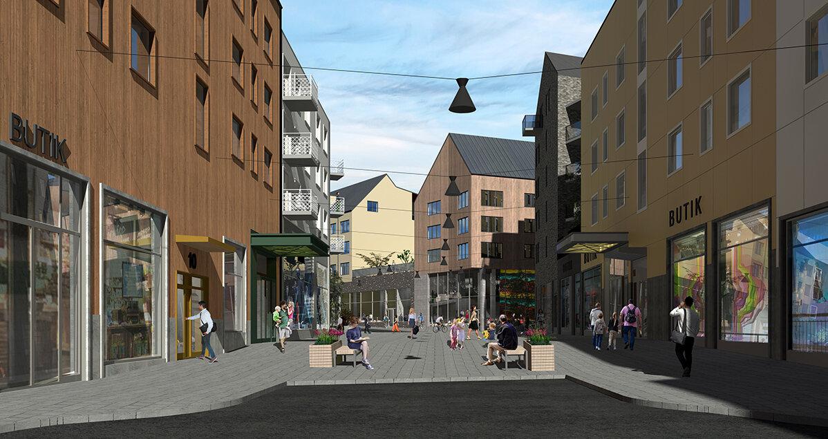 Cityhandeln växer fram i nya Kiruna centrum